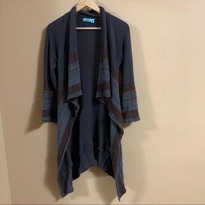 Goddis Open Front Waterfall Cardigan Sweater